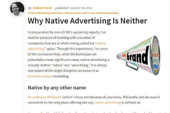 「ネイティブ広告」は、本当に「ネイティブ」な「広告」であるべきなのだろうか?